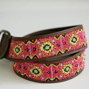 Leather Beaded Handmade Ethnic Bohemian Belt